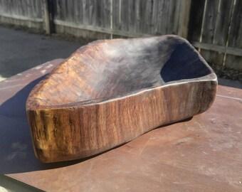 Black Walnut End Grain Hand Carved Bowl