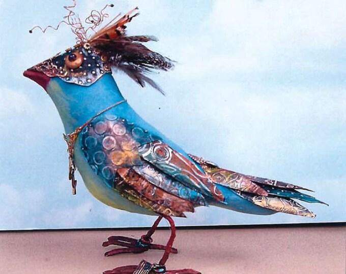 "SE1012E -  Petie Bird , 7"" Bird Doll Art Pattern - PDF Download by Susan Barmore"