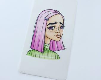 TN/Dori Dashboard Vellum Too Sassy Pink Hair Girl