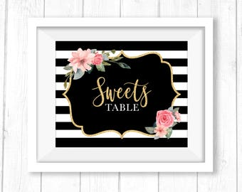 Spade Inspired Sweets Table Signage - Digital Download