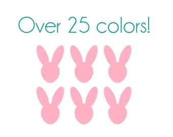 Bunny Nail Decals - Vinyl, Custom Choice of Color
