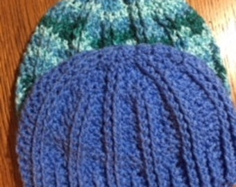 Crochet Ribbed Hat, Crochet hat