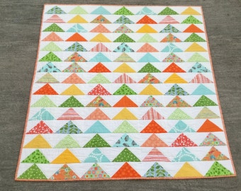 Flying Geese Arrowhead Quilt Crib, Stroller or Lap Quilt