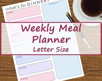 Pink & Purple Weekly Meal Planner