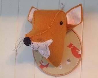 Faux Taxidermy Fox Head