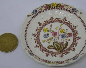 "Vintage Copeland Spode Spode's Cowslip Butter Pat Dish 3.5"" diameter 4 available"