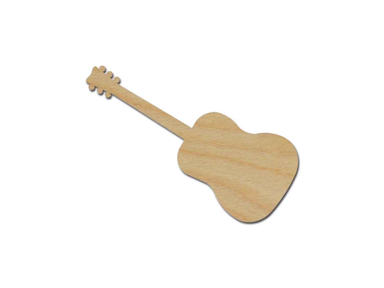 acoustic guitar shape variety of sizes unfinished wood craft. Black Bedroom Furniture Sets. Home Design Ideas