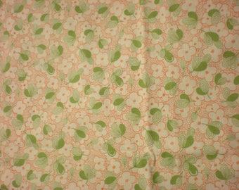 Quilting cotton  Moda Wee Play 1 1/2 Yards Green Orange Fabric