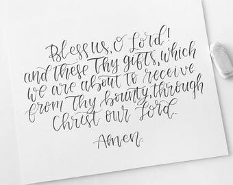 Custom Calligraphy | custom quotes | hand lettered words | hand written vows | personalized vows | bedroom decor