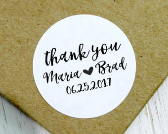 Wedding Thank You Stickers, Wedding Stickers, Custom Wedding Stickers, Wedding Labels, Wedding Favor Stickers, Wedding Favour (11-0001-035)