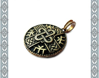 Chain pendant Merovingian gold charm pendant cross german jewelry antique Jewelry Vintage Jewelry Medallion