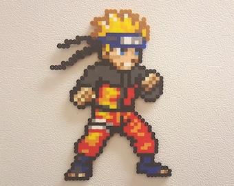 Naruto, Perler beads, naruto gifts, naruto uzumaki, anime, manga, perler bead art, 8 bit, magnet, shippuden, cosplay, headband