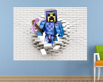 Pixel Block 3d Wall Sticker, Decal