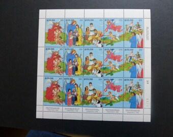 PALAU ~ 1986 CHRISTMAS BLOCK of 15