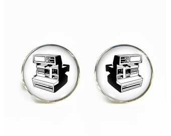 Instant Camera small post stud earrings Stainless steel hypoallergenic 12mm Gifts for her