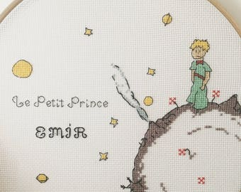 The Little Prince Cross Stitch Hoop