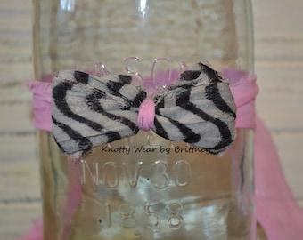 Baby Pink Zebra Tieback