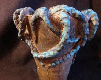 Wonderful Studio Art Pottery Octopus vase