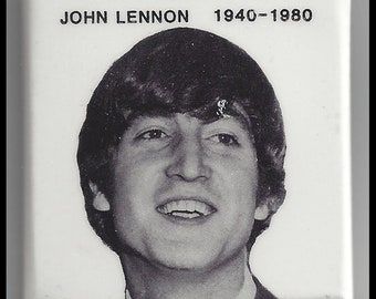 Beatles John Lennon 1980 Tribute Pin