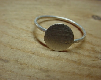 Adjustable ring blank with 3/4 inch glue pad - .925 sterling silver - large or small - strong -fav - handmade eco friendly