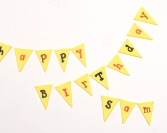 Fondant Bunting Banner Flag Message Cake Toppers