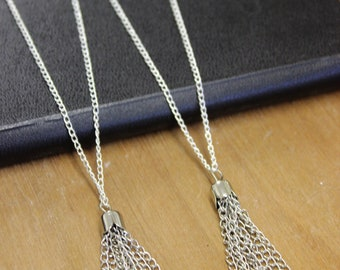 Gold/ Silver Tassel Necklace