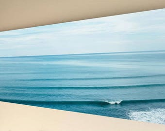 Panorama Canvas Wall Art - Calming Blue Sea [A15] choice of size