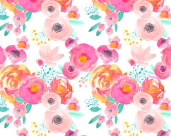 Blush Florals, Baby Girl Swaddle, Crib Sheet, Floral Swaddle, Floral Crib Sheet, Floral Baby Blanket, Floral Baby Bedding, Nursery