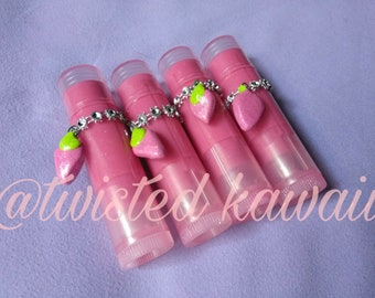 Strawberry Bomb Glitter Lip Balm