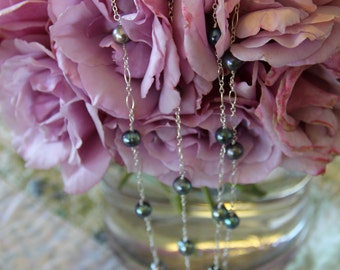 Freshwater Pearl and Sterling Long Necklace
