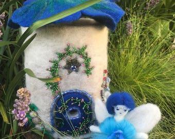 Fairy House Fairy home Fairy cottage Felted Fairy House Outdoor Party Girl Nursery Fairy Decor Toy Box Treasure Box Night Lamp Doll House