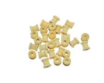 2 beads 14 mm x12.6 wooden spool