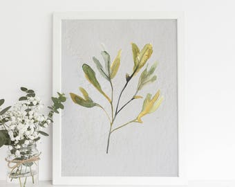 Watercolor Art Print, Seaweed Print, Seaweed Art, Seaweed Artwork, Watercolor Seaweed, Beach Prints, GIft Ideas for Mom, Sister Gifts