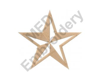 Star - Machine Embroidery Design, General Star, General, Military