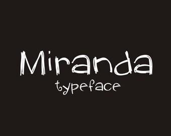 Instant Download - Digital Miranda Font
