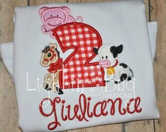 Girly Farm Birthday Shirt