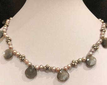 Dainty Freshwater Pearls and Moonstone