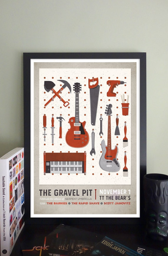 The Gravel Pit Gig Poster // TT the Bears, Cambridge, MA