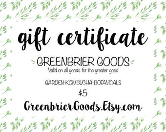 Gift Certificate, Gift Card, Shop Credit