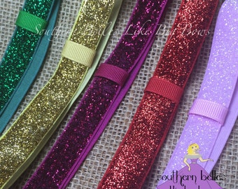 Add A Stretch Glitter Headband to Your Bow, Glitter Headband, Stocking Stuffer, Gift for Baby, Glitter Elastic Headband