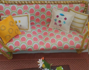 Doll furniture sofa 1:6 scale doll