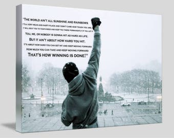 Rocky Balboa Movie Framed Canvas Wall Art A4 - A3 - A2 - A1 - A0