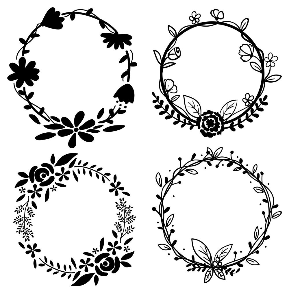 Rustic Christmas Wreath Coloring Page