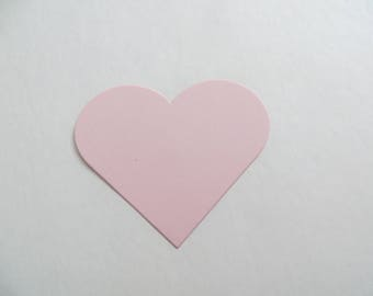 Light Pink Paper Hearts, Die Cut Hearts, Valentine Decor, Valentine Tags, Heart Cutouts, Cardstock Hearts, Gift Tags, Ships Fast