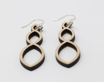 Three Ovals Earrings