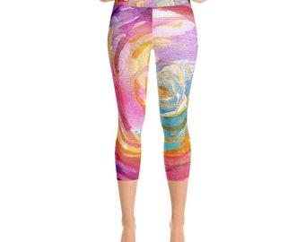 """yoga capri pants Rumi """"what you seek is seeking you"""""""