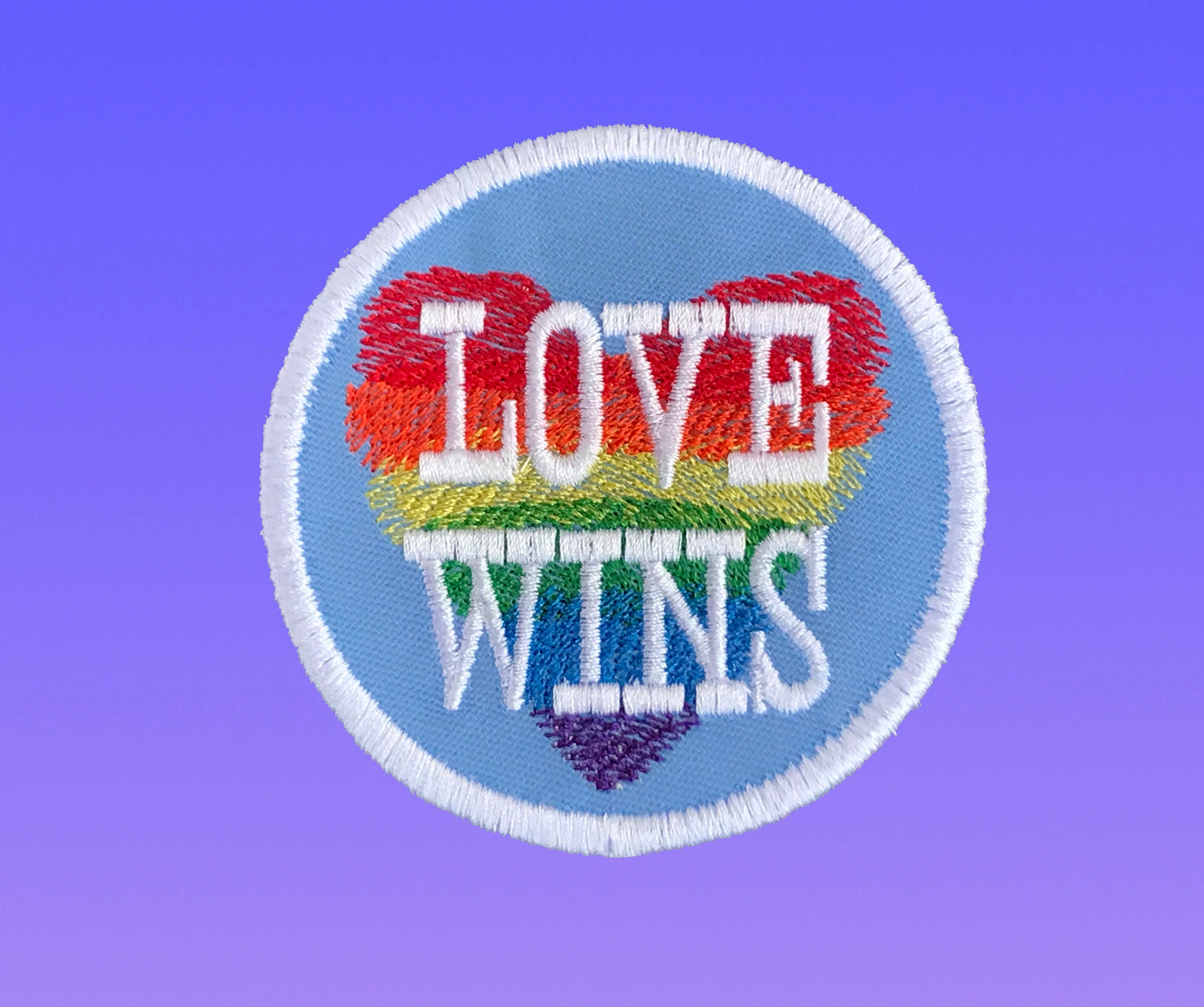 Love Wins Gay Pride Patch Rainbow Aesthetic Patches LGBT