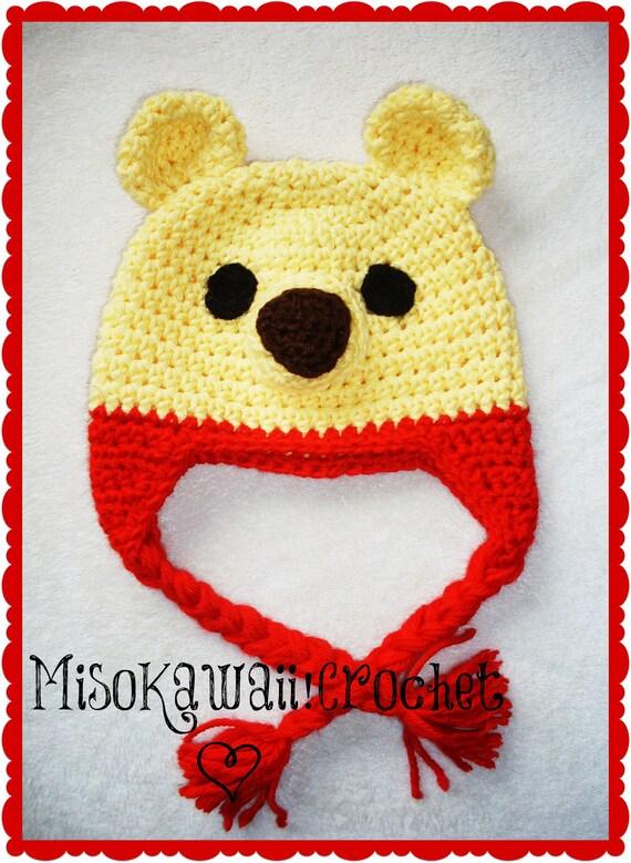 Crochet Pattern Kawaii Pooh Hat Crochet Bear Hat Winnie The