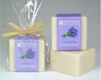 Lavender Soap - Natural Soap, Handmade Soap, Olive Oil Soap Bar, Cold Process Soap