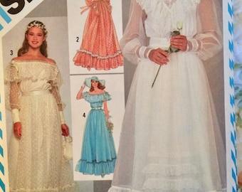 Gunne Sax wedding dress pattern, Simplicity 6361, size 6, 1983 wedding dress,  peasant wedding, prairie wedding, Jessica McClintock